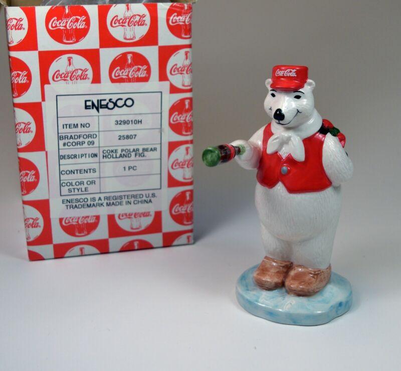 "Vintage 1997 Coca Cola Polar Bear ""Around the World"" Holland New in Box!"