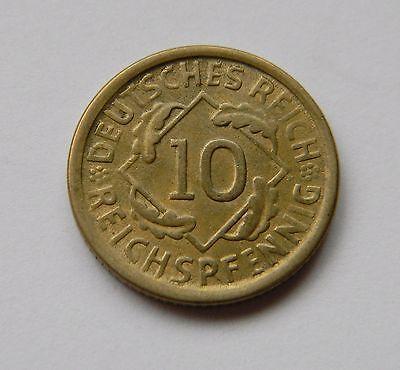 WEIMAR: 10 Reichspfennig 1924 D, J. 317, stempelglanz !!!