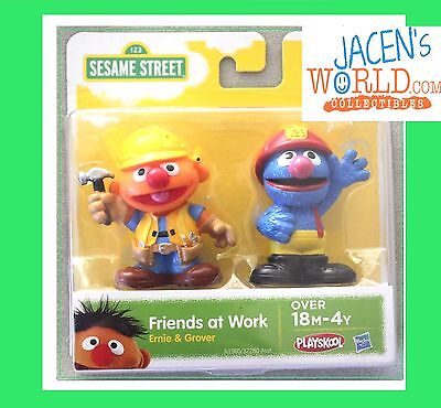 Ernie & Grover Action Figure Toy Friends at Work Sesame Street  Playskool (Grover Toy)