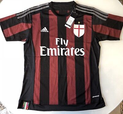 AC MILAN ITALY 2015 2016 HOME FOOTBALL SHIRT ADIDAS SMALL 00d9140fb54c0