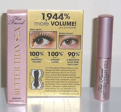 Too Faced Better Than Sex Mascara - 0.17oz [OVER 1/2 FULL SIZE] / BRAND NEW
