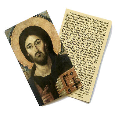 HOLY FACE OF CHRIST Prayer Card - Wallet / Purse / Bookmark Size