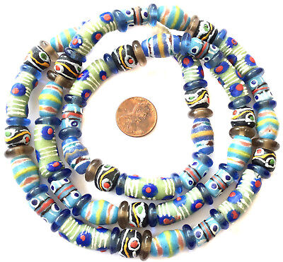 African mixed recycled Glass Ghana African Trade Beads