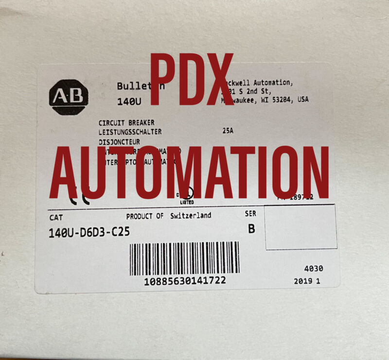 BRAND NEW 140U-D6D3-C25 Circuit Breaker Catalog 140U-D6D3-C25 Ser B