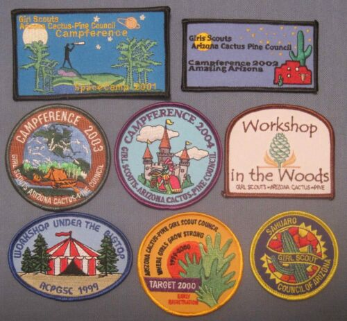 Girl Scout , Arizona Cactus Pine Council , Group of 8 Patches