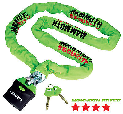 MAMMOTH SHACKLE LOCK AND CHAIN 1.8M MOTOCROSS OFF ROAD ENDURO MOTORCYCLE