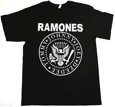 The RAMONES T-shirt Vintage NYC Punk Rock Classic Distressed Logo Mens Tee New