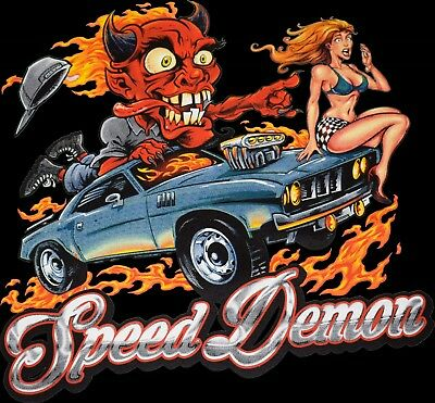 Dodge Speed Demon T Shirt Hot Rod Monster Sexy Girl Mens Small to 6XL & Tall](Hot Xl Girl)