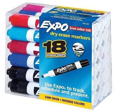 Expo Dry Erase Markers Assorted Colors Pack Of 18