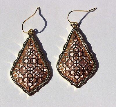 KENDRA SCOTT Addie Mystic Bazaar Collection Filigree Drop Dangle Earrings RARE