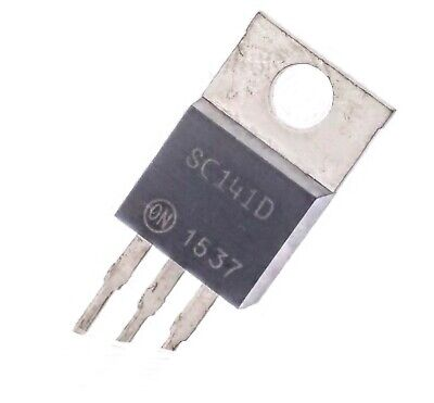 On Semiconductor Sc141d Triac 400 V 6 A To-220ab 50 Ma 2.5 V - Lot Of 3