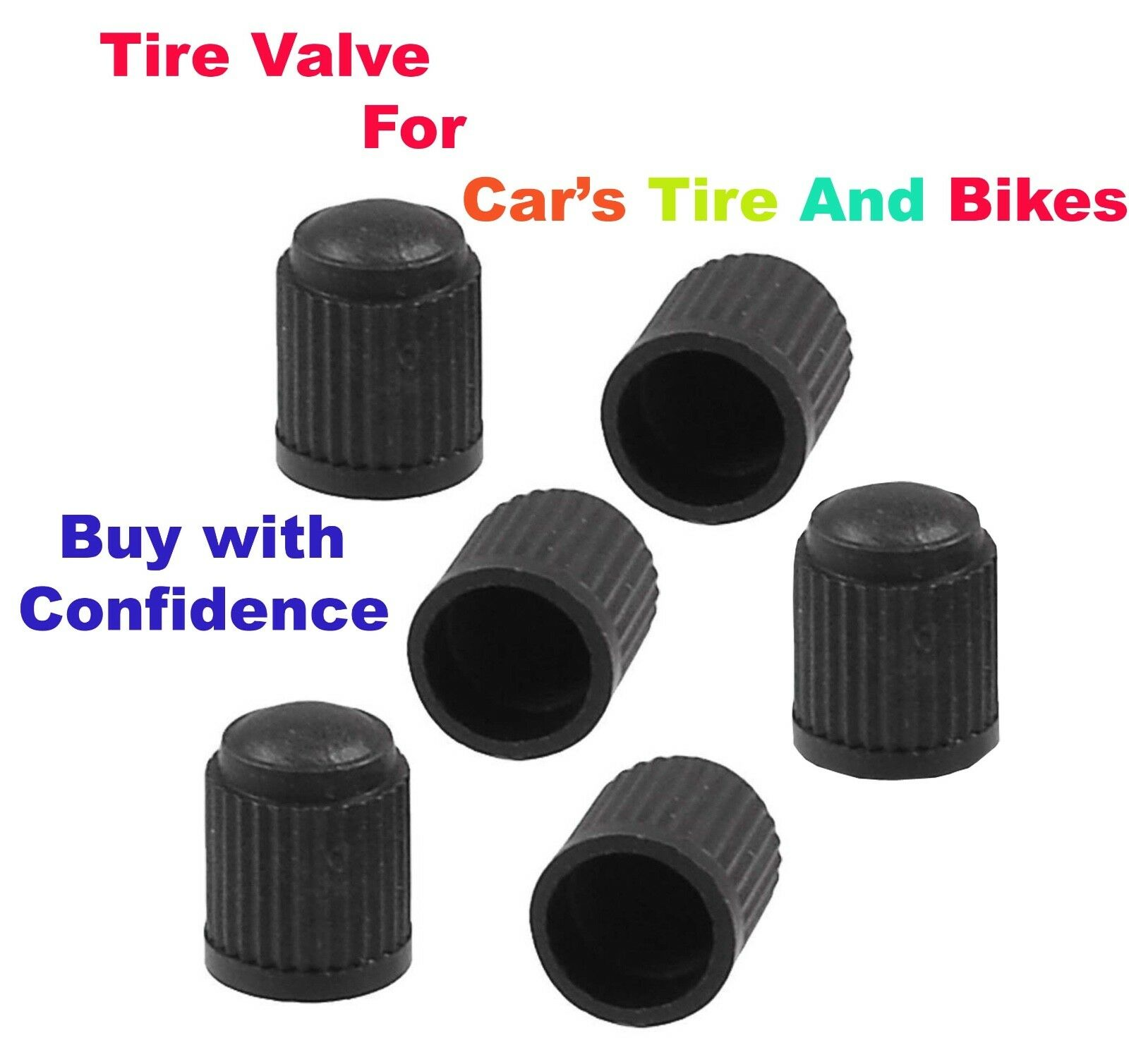 10X Set Tyre Tire plastic Valve Cover Caps for car and bikes