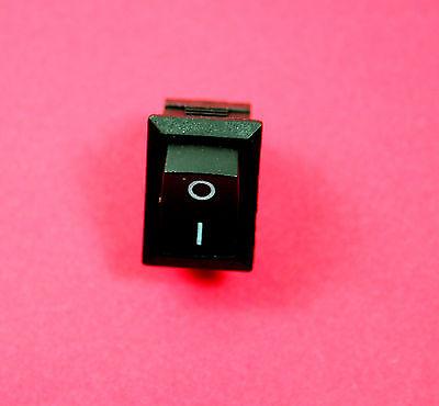 AC 6A 250V 10A 125V 2 Pin SPST On-off Snap in Boat Rocker Switch Black x 5pcs