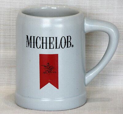 MICHELOB RED RIBBON WITH A & EAGLE LOGO STEIN MUG – ANHEUSER BUSCH BUDWEISER