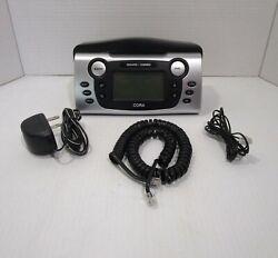CORA Talking Caller ID Corded Phone with Radio Alarm clock