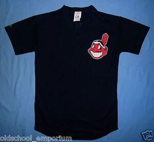 Cleveland Indians (MLB) / MAJESTIC - MENS navy baseball T-Shirt. Size: M* - Poland, Polska - Cleveland Indians (MLB) / MAJESTIC - MENS navy baseball T-Shirt. Size: M* - Poland, Polska