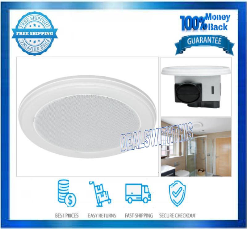 Decorative White 100 Cfm Bluetooth Stereo Speaker Bathroom E