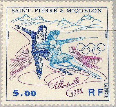ST PIERRE MIQUELON SPM 1992 634 577 WINTER OLYMPICS ALBERTVILLE ICE DANCE MNH