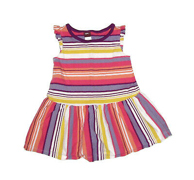 Tea Collection Girls 12-18 Month Summer Dress Cotton Multi Color Stripes