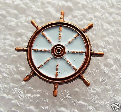 Ships Wheel enamel pin / lapel badge Steamer Canal barge Yatch Narrowboat