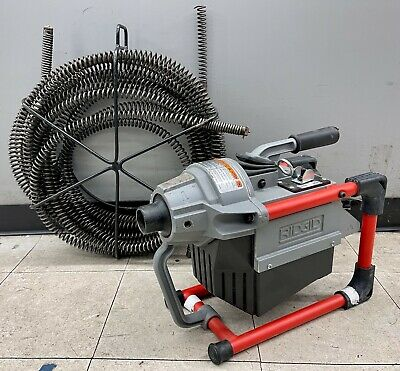 Ridgid K-60 Sp Compact Sectional Drain Cleaning Machine W 75ft. Snake No Ship