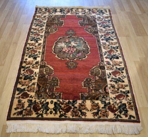 Gorgeous 1970's Handmade Turkish Konya rug  5 Ft X 8 Ft  Free Shipping