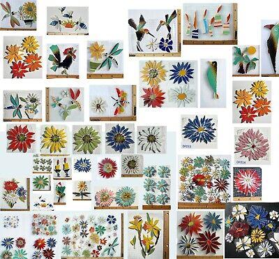 Broken China Mosaic Tiles, Daisy Size / Color Variations 1.5