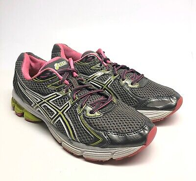 ASICS GT-2170 LEATHER/TEXTILE WOMEN'S PINK & GREEN RUNNING SHOES SIZE 9.5