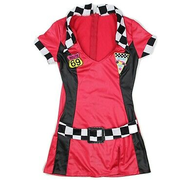 Racer Halloween Costumes (Red Racer Womens Grand Prix Route 69 Halloween Sexy Costume Size)