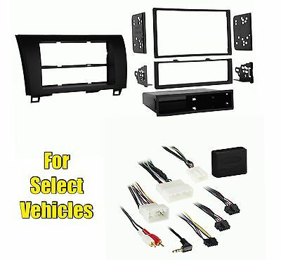 Gloss Black Car Stereo Install Radio Dash Face Kit Combo for some Toy w/JBL