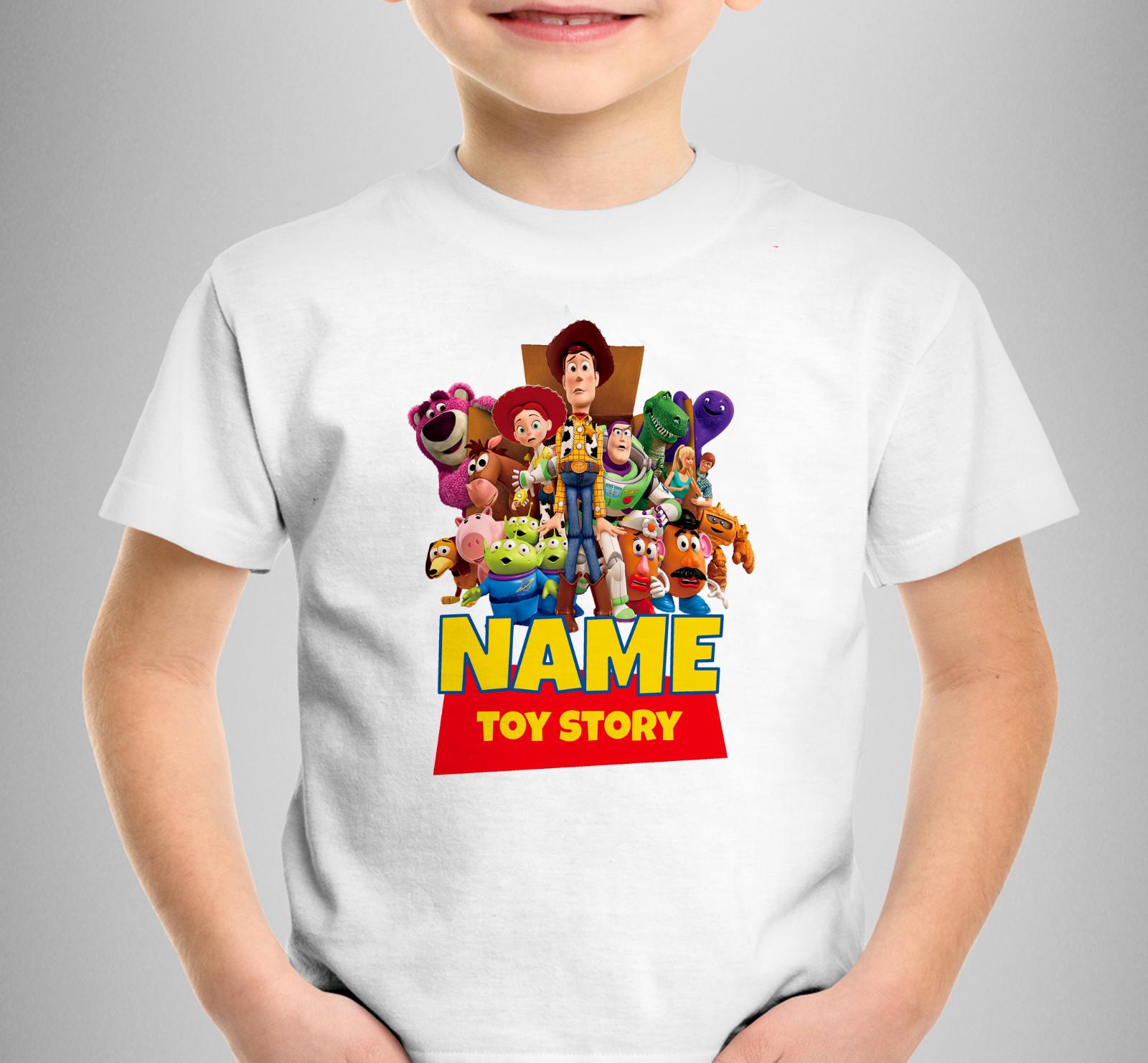BNWT Disney Toy Story Garçons Rouge T-shirt Âge 7-8 Ans