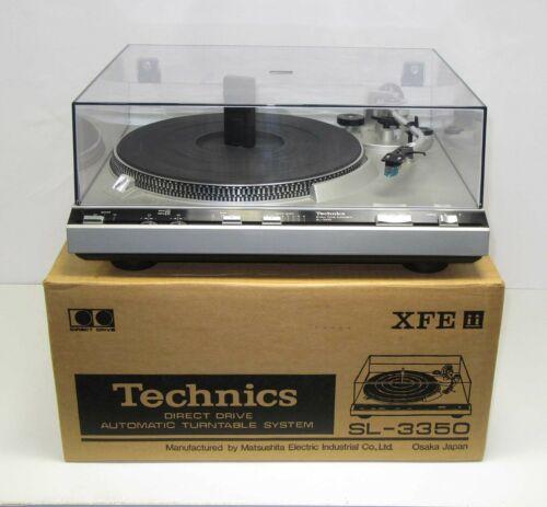 Classic Technics SL-3350 Stereo Turntable w/Box & Accessories WORKS! VGC!