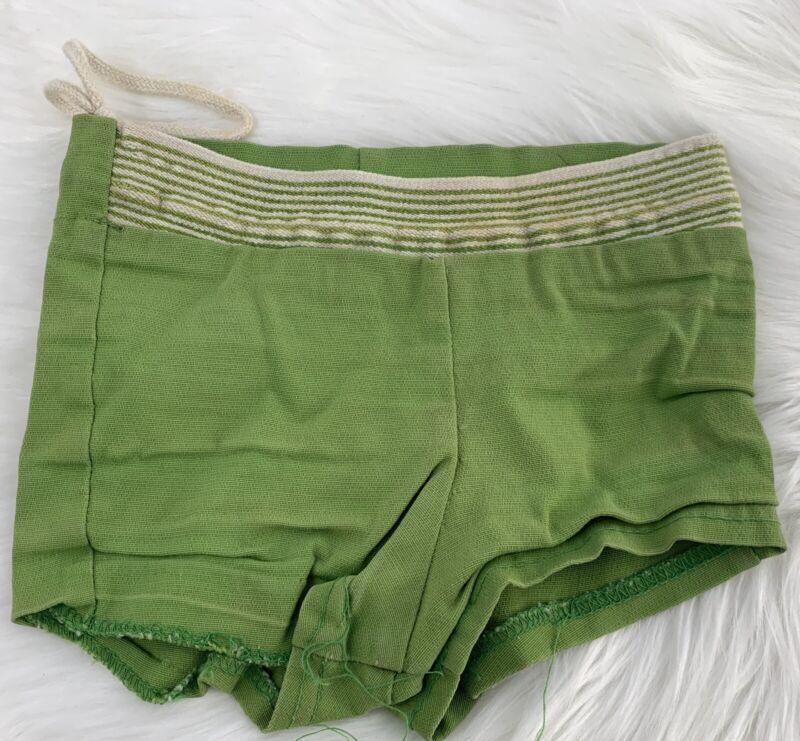VINTAGE 30's ORIGINAL BOYS Green SWIM TRUNKS SIZE KIDS 3T-4T CLASSICS
