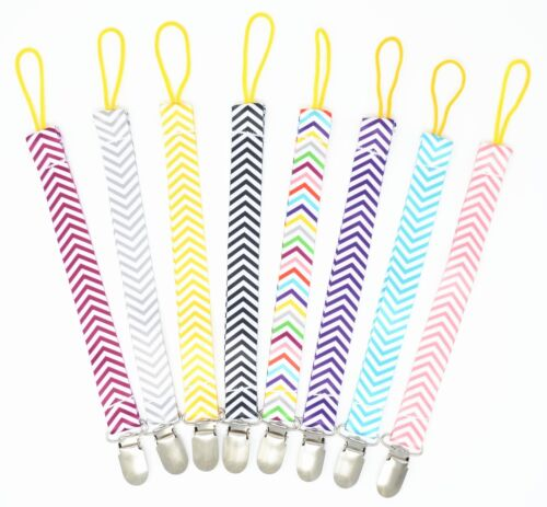Baby Infant Pacifier Clips, Dummy Soother Strap Holder, Teething toy holder