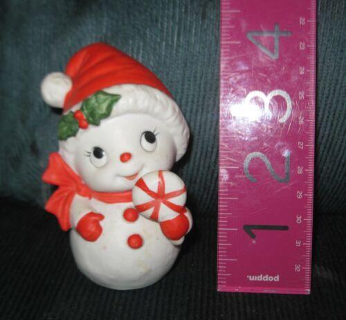 HOMCO Vintage Mrs Snowman Boy Girl Christmas Figurine Figure 5604