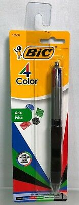 Bic 4 Color Ink Ball Pen W Grip Blackredbluegreen Ink -medium -18550 A25