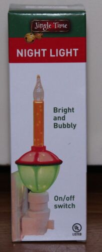 Vintage Look Christmas Bubble Night Light Nightlight Gold bubbling liquid