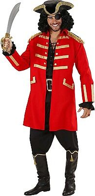 ate Coat & Hat Men's Fancy Dress Costume S-XL (Captain Hook Hat)