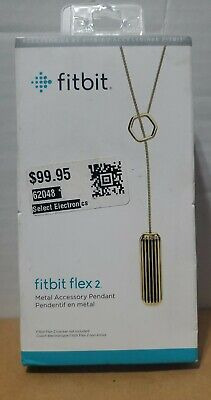 Fitbit Pendant for Fitbit Flex 2 Stainless Steel Gold FB161ALGD NEW Retail 99.95