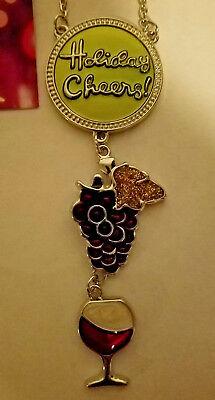 St Nicholas Square Metal Wine Bottle Decoration Holiday Cheer Ornament (Holiday Cheer Ornament)