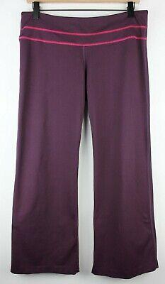 Zella Womens Wide Leg Performance Stretch Pants Sz 10 Purple Hemmed EUC