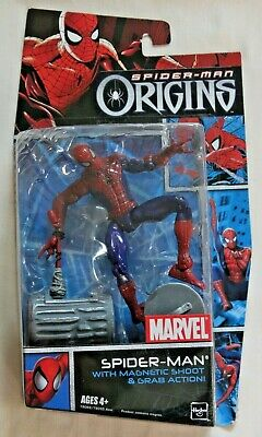 Spiderman Origins Action Figure Magnetic Shoot and Grab Action New in Opened Box