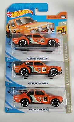 Hot Wheels 2020 - 70' Ford Escort RS1600 x3 (Ideal for Customs)