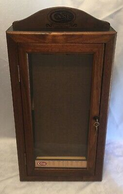 Vintage Solid Wood CASE XX FOLDING POCKET KNIVES Counter Showcase Display Case