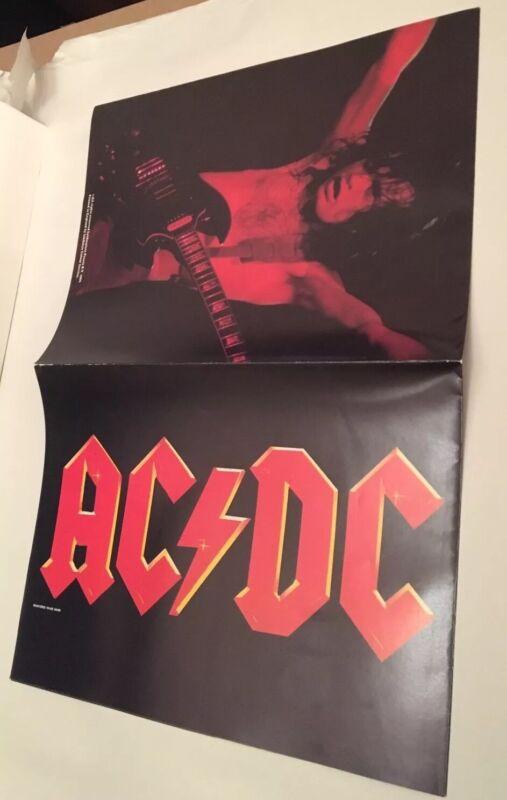 AC/DC POSTER 1984 Program RARE Vintage Original CONCERT TOUR  acdc Angus