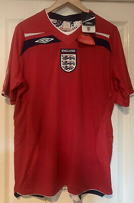 England Football Shirt By Umbro 2008 - 2010 New With Tags