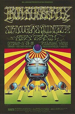 MINT Iron Butterfly Rick Griffin 1968 BG 141 Fillmore Poster