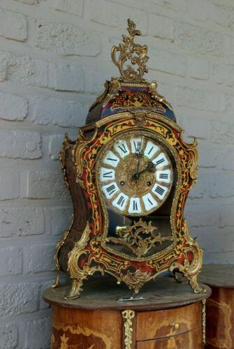 Large gorgeous Boulle Cartel Mantel clock medusa head bronze ornament
