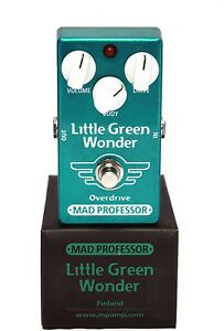 Mad Professor LGW Little Green Wonder OD Electric Guitar Effect Pedal Open