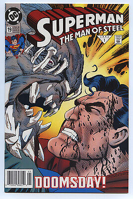SUPERMAN: MAN OF STEEL #19 DC Jan 1993 NM+ 9.6 1st Print 2nd DOOMSDAY NEWSSTAND